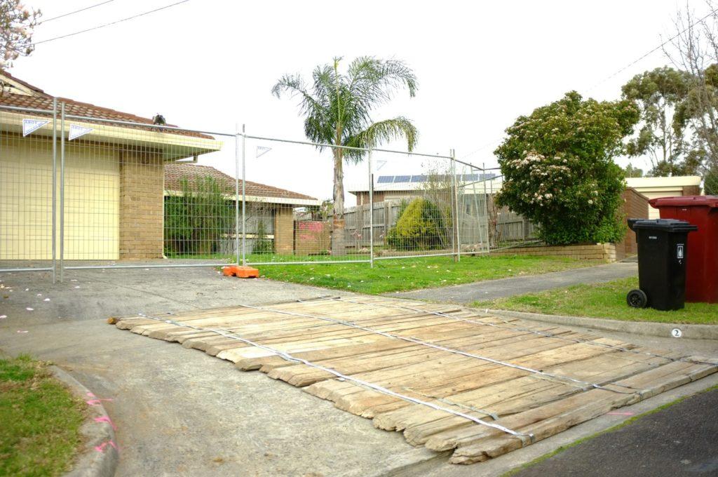 Ahoy Hire temporary fence around a property