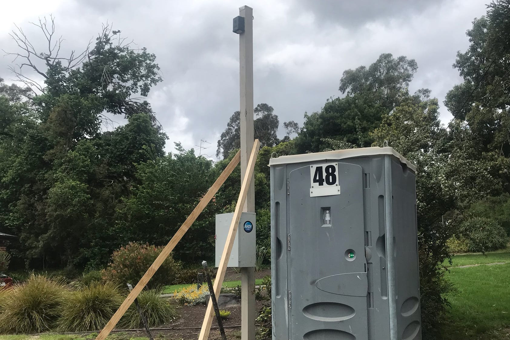 Ahoy Hire Temporary Power Pole and Portable Toilet