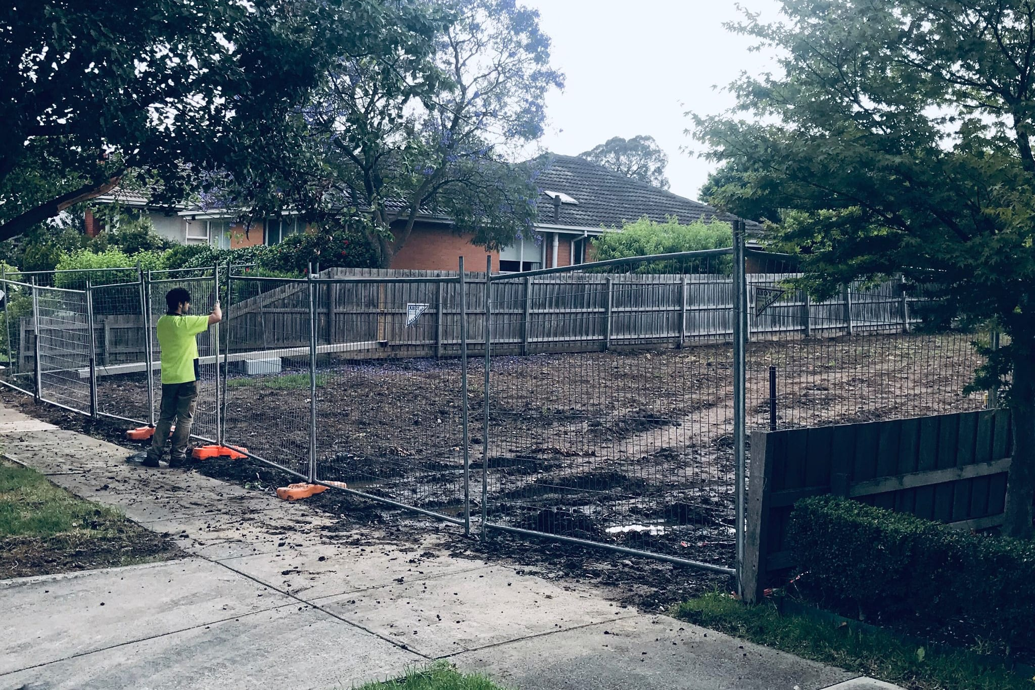 Ahoy Hire Temporary fence in Mount Waverly
